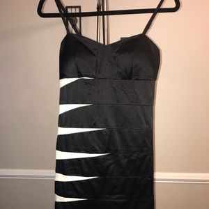 Black and a white Mini Party Dress